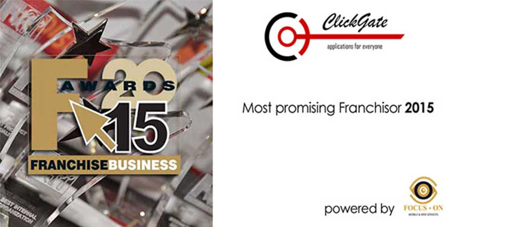 Βραβείο Most promising Franchisor στην CLICKGATE